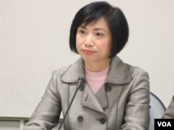 民进党立委何欣纯(美国之音张永泰拍摄)