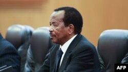Le président camerounais Paul Biya au Grand Palais du Peuple à Beijing le 22 mars 2018.