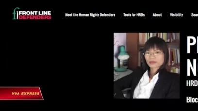Thanh Nghiên trong danh sách 'Những Người Bảo vệ Nhân quyền'
