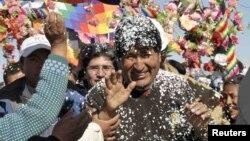 Evo Morales podría aspirar a la reelección en el 2014.