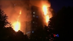 大火燒毀倫敦一高層居民樓(粵語)