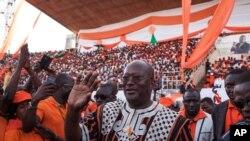Roch Kaboré, vainqueur au premier tour de la présidentielle (AP Photo/Theo Renaut)