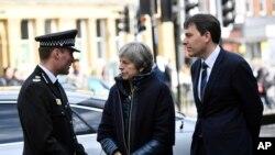La primera ministra británica, Theresa May, recibió información de la policía sobre el intento de asesinato del exespía ruso Sergei Skripal y su hija, en Salisbury, Inglaterra, el 15 de marzo, de 2018.