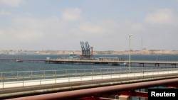 FILE - A general view of Libya's Hariga port in Tobruk, east of Benghazi, June 28, 2014.