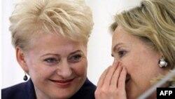 Даля Грибаускайте и Хиллари Клинтон