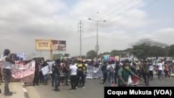 Manifestação contra desemprego em Luanda, Angola, 26 setembro 2020