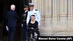 Роберта Маккейн прибула до Національного собору у Вашингтоні, 1 вересня 2018.