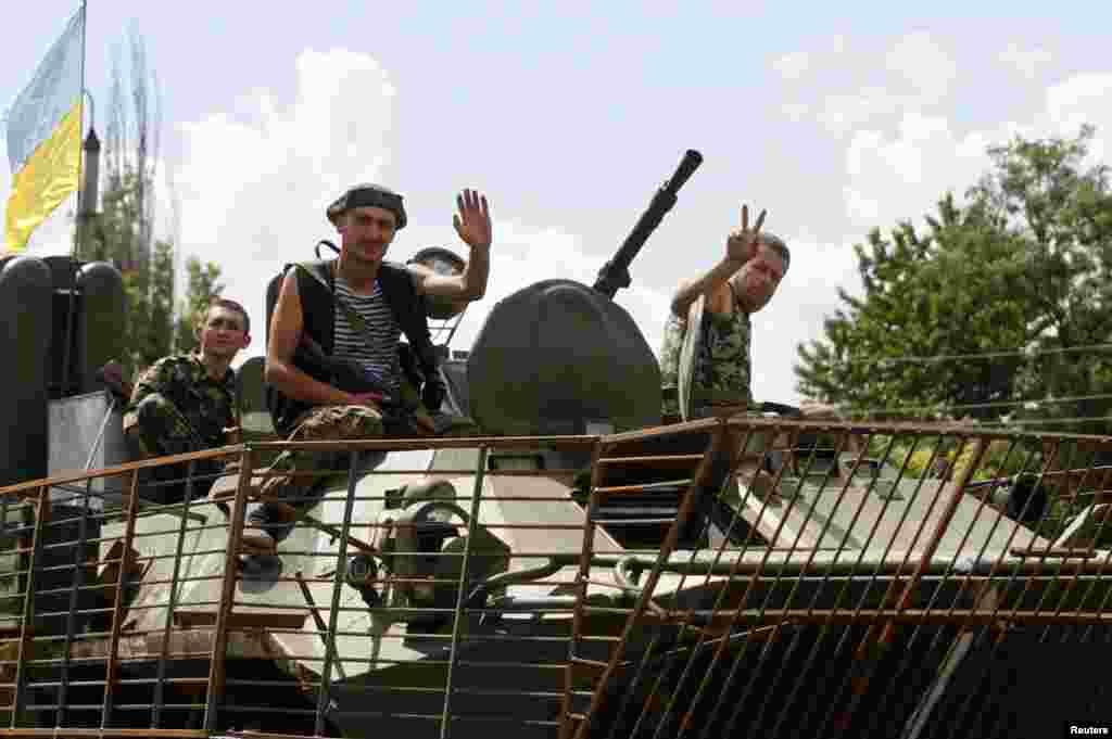 Українські військові у Краматорську.