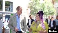ملاقات «نتا بارزیلای» برنده مسابقات «یورو ویژن»با شاهزاده ویلیام در تل آویو