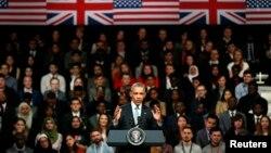 ولسمشر اوباما په لندن کې د ځوانانو په یوې غونډې کې خبرې وکړې.