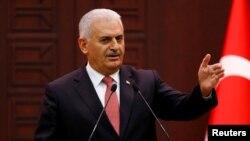 Премьер-министр Турции Бинали Йылдырым. Анкара. 27 июня 2016 г.