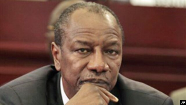 Guinean President Alpha Conde looks on during the closing session of the 17th African Union Summit, at Sipopo Conference Center, outside Malabo, Equatorial Guinea (File Photo - July 1, 2011)