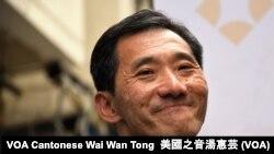 香港民主派立法會補選九龍西候選人姚松炎 (攝影:美國之音湯惠芸)