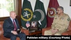 US NSA General McMaster met with Pakistan army chief Gen Qamar Javed Bajwa, April 17.