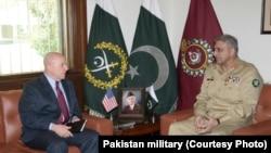 Tướng McMaster cố vấn quan An ninh Quốc gia Hoa Kỳ gặpTổng Tư lệnh Quân đội Pakistan, tướng Qamar Javed Bajwa, ngày 17/4/2017.