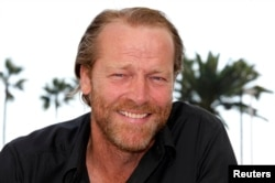 "Actor Iain Glen poses while promoting the television series ""Jack Taylor"" in Cannes, France, October 3, 2011."