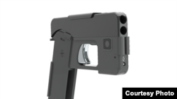 A Minnesota company has designed a gun that folds and looks like a smartphone. (Photo courtesy Ideal Conceal)