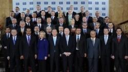 دیپلمات هایی که در کنفرانس لیبی در لندن شرکت کرده اند