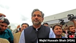Shahid Khaqan Abbasi (VOA/Wajid Hussain Shah)