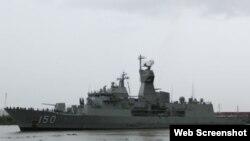 Tàu chiến HMAS Anzac của Úc. Ảnh chụp màn hình trang web vnexpress.net