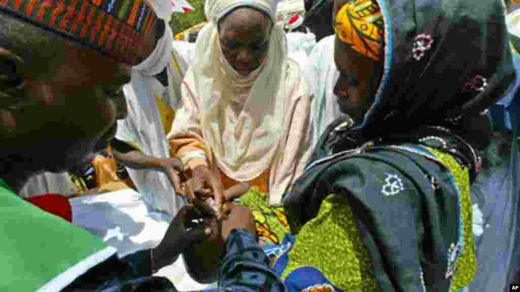 Community leaders, health workers, Muslim clerics, and the victims work to vaccinate Nigerians against polio.