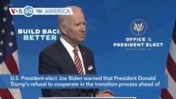 VOA60 Ameerikaa - Biden Warns of Lethal Consequences if Trump Won't Coordinate on Coronavirus Response