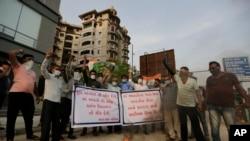 Người Ấn Độ biểu tình chống Trung Quốc tại Ahmedabad, Ấn Độ, ngày 16/6/2020.
