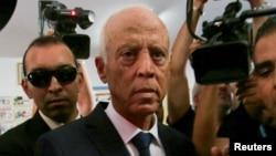 Le candidat à la présidentielle tunisienne Kais Saied à Tunis, en Tunisie, le 13 octobre 2019. REUTERS / Zoubeir Souissi -