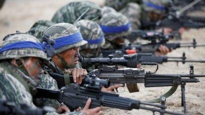 Thủy quân lục chiến Mỹ-Hàn Quốc tập trận ở Pohang, Hàn Quốc vào năm 2017.