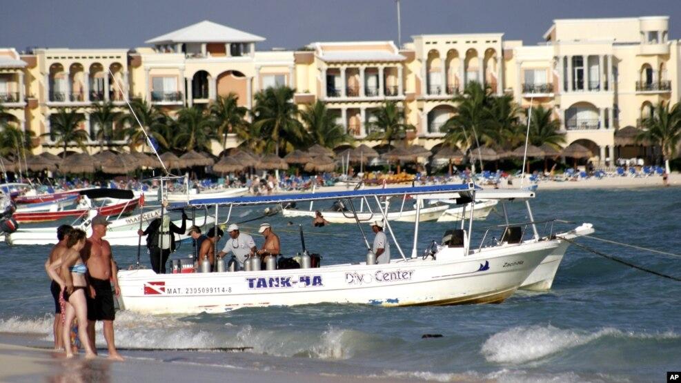 El balneario de Playa del Carmen es uno de los más populares en la llamada Riviera Maya de México.