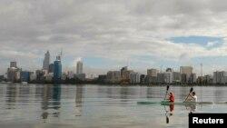 FILE - The Perth, Australia, skyline, June 2008.