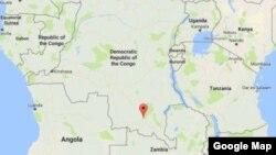 Area of Democratic Republic of Congo train crash