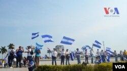 """Oposición nicaragüense se agrupa en la coalición """"Unidad Nacional Azul y Blanco"""". Foto: Donaldo Hernández - VOA"""