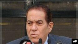 기자회견을 갖는 간주리 이집트 총리