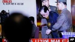 北韓領導人金正恩的姑父張成澤 (Jang Song Thaek)2013年12月12日在平壤以叛國罪受審,然後被處決。