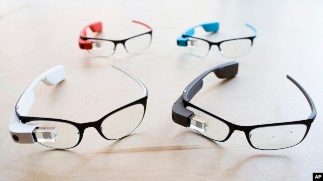 The new Google Glass prescription frames, Jan. 24, 2014.