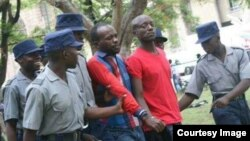 Occupy Africa Leaders Itai Dzamara (left) and Tichaona Danho (right) detained by police.
