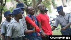 FILE: Occupy Africa Leaders Itai Dzamara (left) and Tichaona Danho (right) detained by police.
