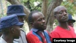 Occupy Africa Unity Square leaders Itai Dzamara (left) and Tichaona Danho (right) detained by police.
