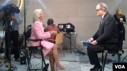 Кристин Лагард дает интервью