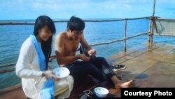 Sáo và Giang trong phim Nước 2030 (Ảnh: Bùi Văn Phú).