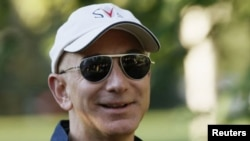 El multimillonario Jeff Bezos, ejecutivo principal de Amazon, en una conferencia en Sun Valley el mes pasado.