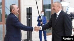Dışişleri Bakanı Çavuşoğlu ve Azerbaycan Cumhurbaşkanı Aliyev, Bakü'de görüştü.