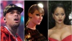 Top Ten Americano: Chris Brown volta ao mercado, Taylor Swift e Rihanna criticadas na media social