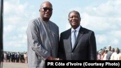 Les présidents ivorien et burkinabé le 28 juillet 2016.