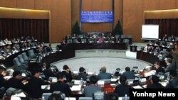 지난 2일 북한 양각도 국제호텔에서 조선경제개발협회 주최로 경제개발구 전문가 토론회가 열렸다고 조선중앙통신이 보도했다.