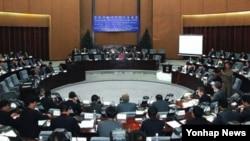 지난 5월 북한 양각도 국제호텔에서 조선경제개발협회 주최로 경제개발구 전문가 토론회가 열렸다고 조선중앙통신이 보도했다.