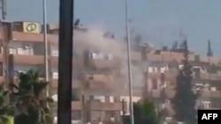 Dim iznad sirijskog grada Hame