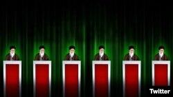 تصویری که مورگان اورتگاس برای توصیف انتخابات ایران استفاده کرد: همه شکل هم!