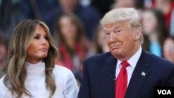 ამერიკის 45-ე პრეზიდენტი და პირველი ლედი, მელანია და დონალდ ტრამპები